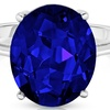 5.00 CTTW Lab-Created Sapphire Ring in Sterling Silver