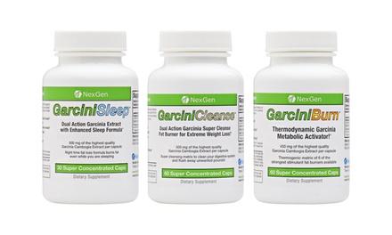 NexGen GarciniBurn, GarciniCleanse, and GarciniSleep Combo Diet Kit