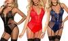 Polka Dot Rendezvous Lingerie Bodysuit l Plus Available