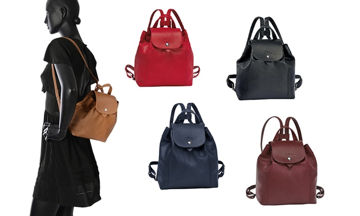 0ee8d968dce Longchamp Le Pliage Cuir Backpack | Groupon Goods