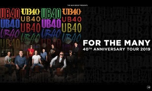 UB40 40th Anniversary Tour: UB40, 40th Anniversary Tour, 21 December 2018–22 May 2019, Multiple Locations (Up to 18% Off)