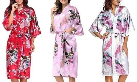 Bata kimono estampada estilo japonés