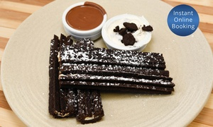 Chocolates Del Mondo - Bankstown: Oreo Churros + Drinks (From $16.50) or Chocolate Fondue + Drinks (From $22) at Chocolates Del Mondo (From $25.40 Value)