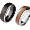 Tisten Men's Rings in Tungsten and Titanium