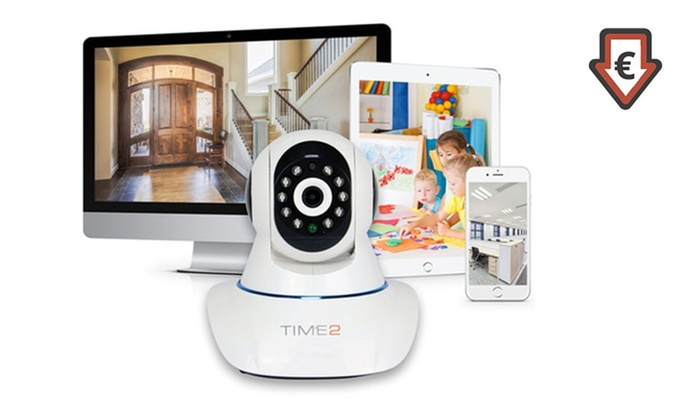 Groupon Goods Global GmbH: Rotierende, drahtlose HD-Überwachungskamera für Zuhause mit Nachtsicht-Funktion (bis zu 71% sparen*)