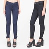 Juniors' Knit Denim-Wash Jeggings with Pockets and Drawstring Ankles
