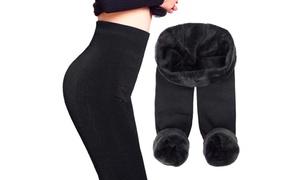 (Mode)  Legging femme thermique fourré -57% réduction