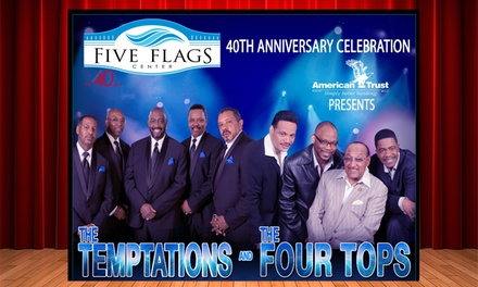 The Temptations with The Four Tops on Saturday, May 18, at 7 p.m.