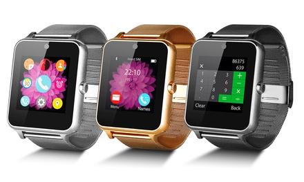 Smartwatch multifunción con Micro SIM, registro de actividad acabado en Metal brillante