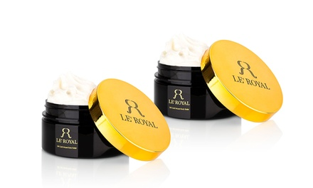 Le' Royal Gold-Infused Body Butter; 8.5oz (1- or 2-Pack)