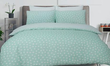 Parure de lit à pois en polycoton