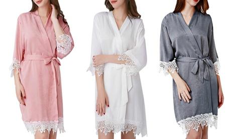 Pretty Bash Dream Shimmery Satin Robe l Plus Available ef0e1fb2-f480-404e-9859-050b3c1ebb05