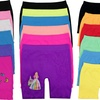 Kids' Above-Knee Seamless Shorts (6-Pack)
