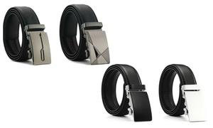 Mark Fred Men's Genuine Leather Track Belt (2-Pack)