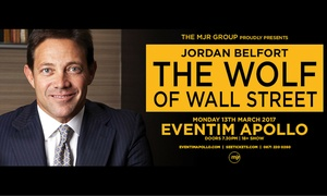Jordan Belfort - Wolf of Wall Street: Ticket to See Jordan Belfort, The Wolf of Wall Street, Eventim Apollo, 13 March 2017