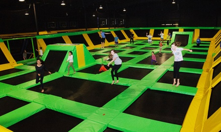One-Hour Open Air Pass for Two or Four at Max Air Trampoline Park (Up to 46% Off)