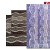 Set of Two Waves 100% Cotton Non-Slip Bath Rugs