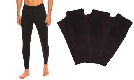 Hasta 5 leggings negros para hombre con interior de felpa y cremallera