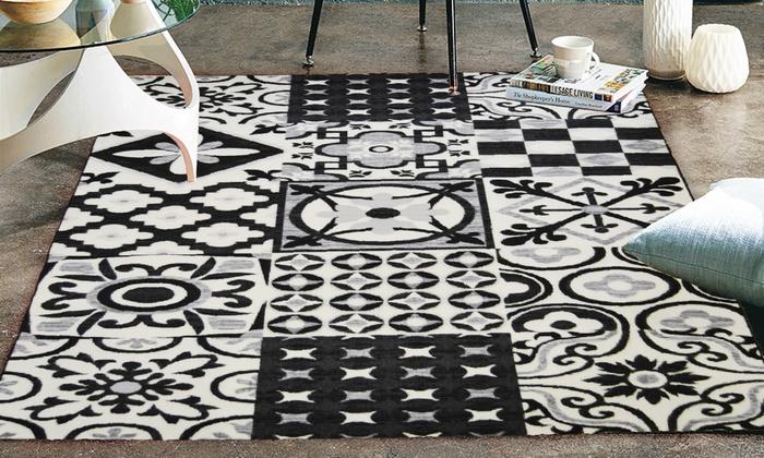 Tapis nazar tapis utopia groupon shopping - Tapis imitation carreaux ciment ...