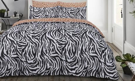 Set de funda nórdica de Animal Print con 1 o 2 fundas de almohada