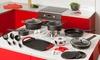 Groupon Goods Global GmbH: Batterie de cuisine 27 pièces Newchef en aluminium