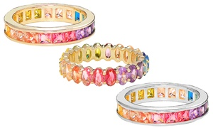Crystal Rainbow Eternity Bands by Elements of Love