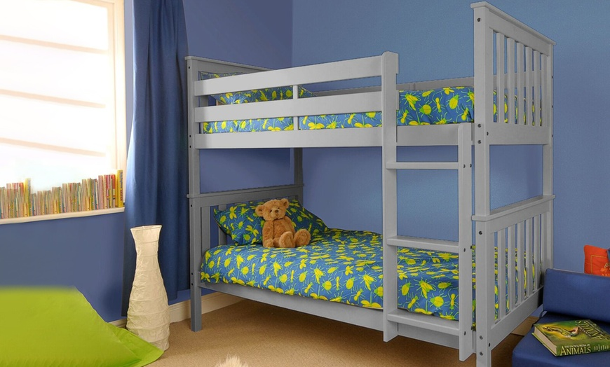Wooden Shaker Bunk Bed with Two Optional Mattresses from £199 (66% OFF)