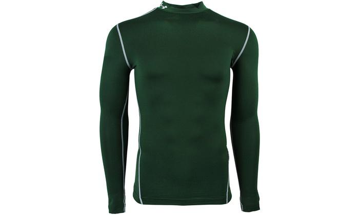 Under Armour Mens ColdGear Armour Compression Mock Long Sleeve T-Shirt