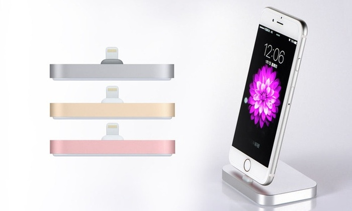 Factory Wholesale: Aluminium Charging Dock for iPhone with Braided Cable: One ($12) or Two ($19)
