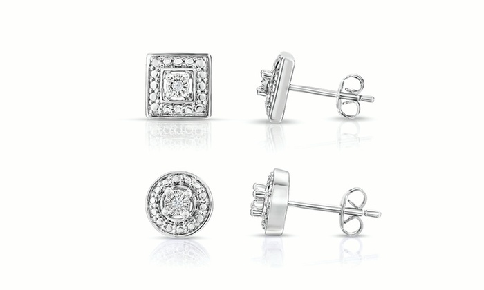Diamond Accent Stud Earrings