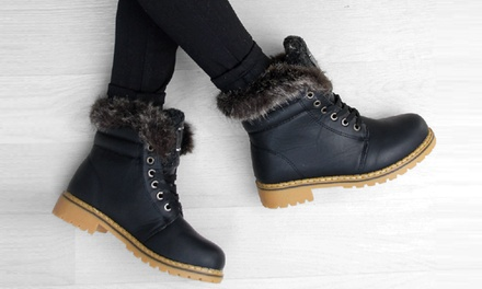 Women's Ankle LaceUp Lined Boots