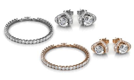 Set de joyería: pulsera y pendientes