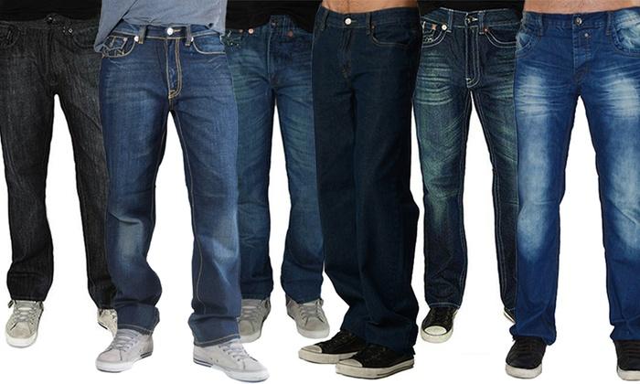 Buy 1 Get 1 Free: Men's Straight-Leg Jeans