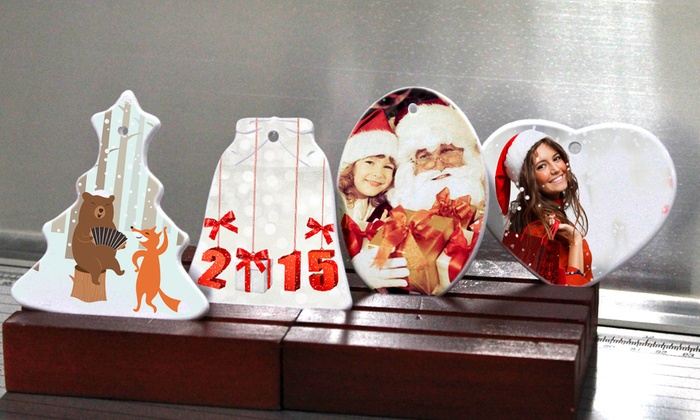 Inkdoodle: C$8 for Personalized Bell Photo Ornament from Inkdoodle (C$15 Value)