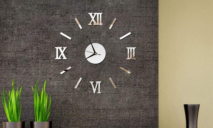 One Or Two Large Modern Wall Clocks With Roman Numerals