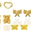 Kids' 14K Gold Character Stud Earrings