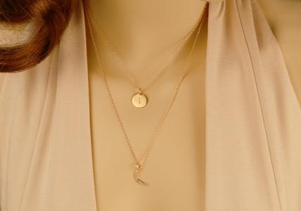 Custom 3-Layer Birthstone Charm Necklace from Monogram Online