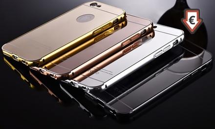 1 o 2 carcasas con efecto espejo disponibles para varios modelos de iPhone o Samsung