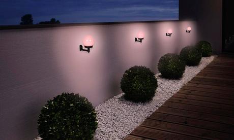 1 o 2 sets de lámparas solares LED para el jardín