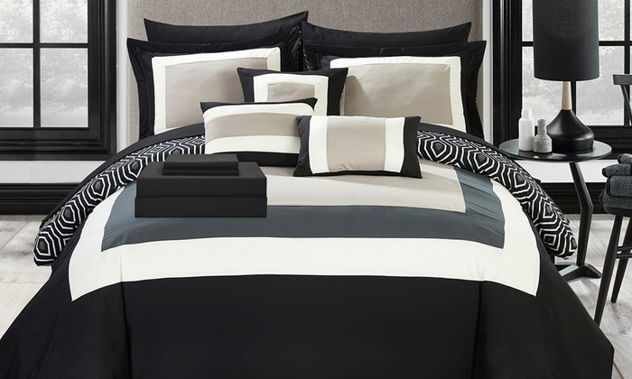 Comforter Sets.Up To 79 Off On 10pc Bed In A Bag Comforter Sets Groupon Goods