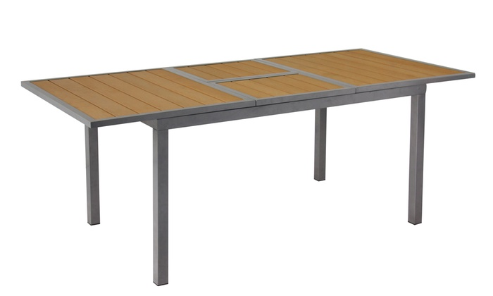ausziehbarer aluminium tisch groupon. Black Bedroom Furniture Sets. Home Design Ideas