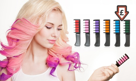 One, Two or Four Hair Chalk Comb Sets