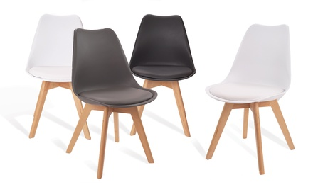 BLACK FRIDAY: Lot de 2 ou 4 chaises Scandinaves SUEDIA, coloris au choix