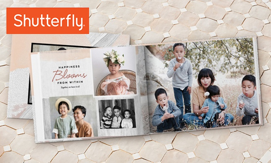 Up to 86% off on Custom Hardcover Photo Book from Shutterfly