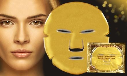Collagène doré: masques de luxe pour les yeux, le cou, les lèvres et le visage au collagène