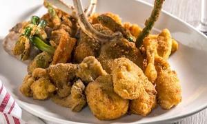 Vitelloni: Menu pranzo con fritto piemontese All you can eat e vino per 2 o 4 persone al ristorante Vitelloni (sconto fino a 72%)