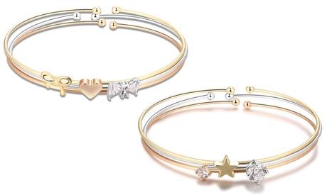 Set de 3 o 6 pulseras adornadas con cristales