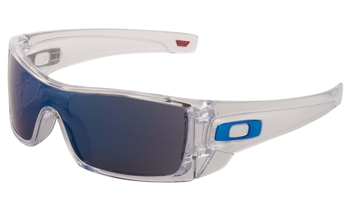 a00681845258d Oakley Batwolf Men s Sunglasses with Clear Frame and Ice-Iridium Lens