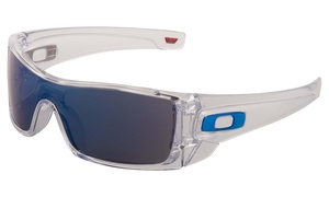 0584fb17ff1 Oakley Batwolf Men s Sunglasses with Clear Frame and Ice-Iridium Lens