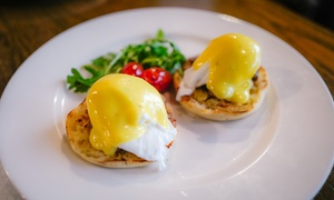 Saj Bistro: Any Breakfast with Coffee for Two, Four or Six at Saj Bistro (Up to 60% Off)